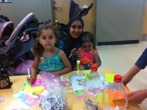 Mariam Moharrem Zebian (Center) with her children