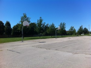 The basketball court at White Oaks Park