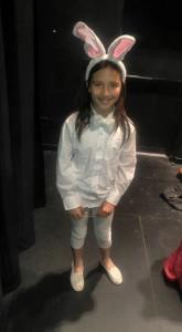 Angelina delMundo as the White Rabbit
