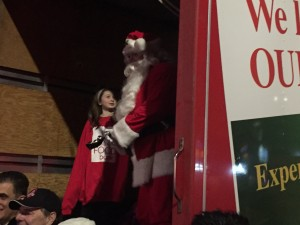 Santa Claus at the CP Holiday Train stop in London