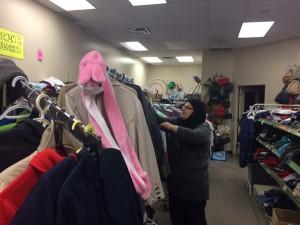 Supervisor Marium Osaid organizing the donations